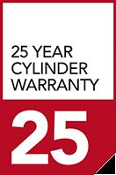 25 year cylinder warranty
